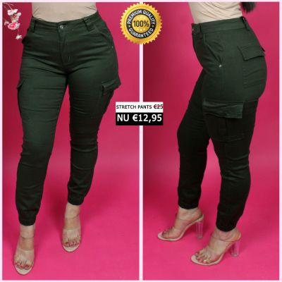 PRE ORDER Green Perfect Cargo Stretch Pants 77357-3 WORD UITERLIJK 25-01 VERZONDEN