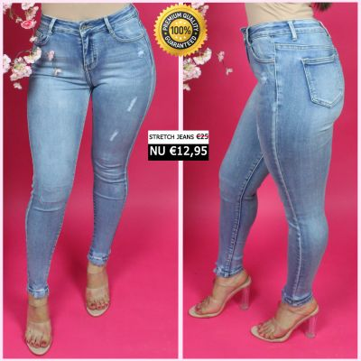 PRE ORDER Premium Quality Stretch Almost Clean Jeans 55007 WORD 25-01 VERZONDEN