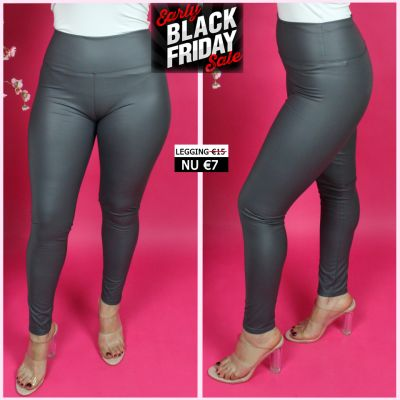 Musthave Leather Look Legging Thermo 2048 GREY