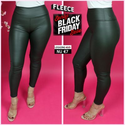 Musthave Leather Look Legging Thermo 2048 GREEN