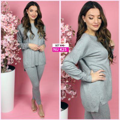 PRE ORDER Soft Touch Loungewear Set Grey WORD UITERLIJK 11-08 VERZONDEN