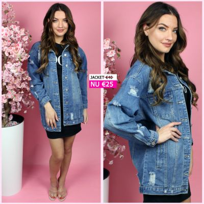 BestSeller Denim Jacket Distressed 606L