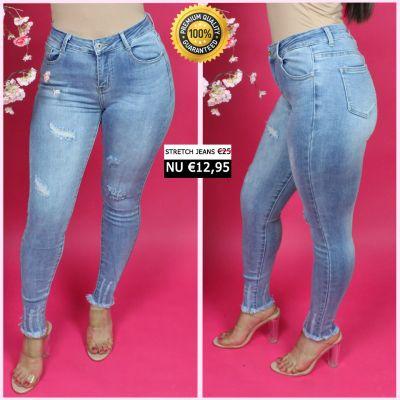 PRE ORDER Premium Quality Stretch Scratches Jeans 55002 WORD 25-01 VERZONDEN