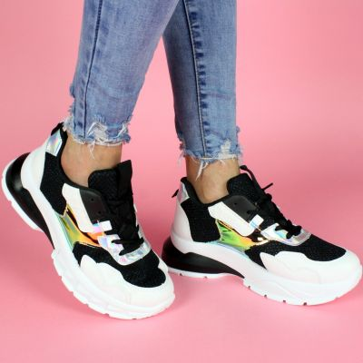 Plated Big Sole Sneaker Black White LL1775