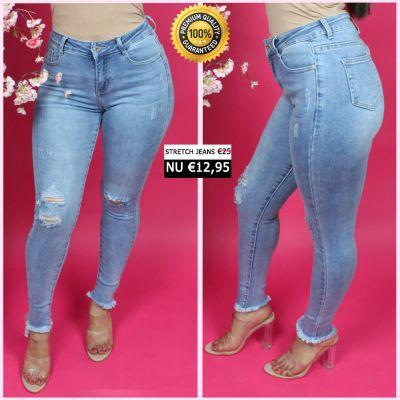 PRE ORDER Premium Quality Stretch Distressed Jeans 55010 WORD 25-01 VERZONDEN