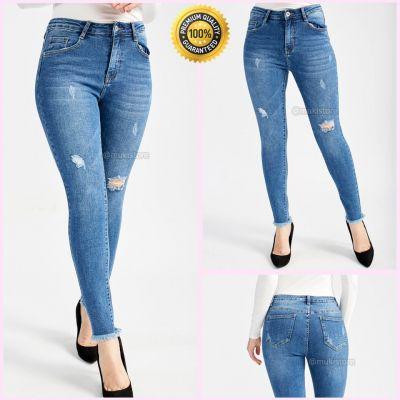 Premium Quality Stretch Distressed Jeans 77398
