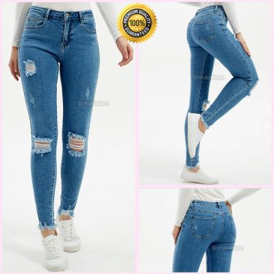 Premium Quality Stretch Ripped Knee Jeans 77622