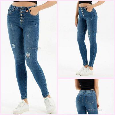 Premium Quality Stretch Push Up 5 Button Jeans 77720