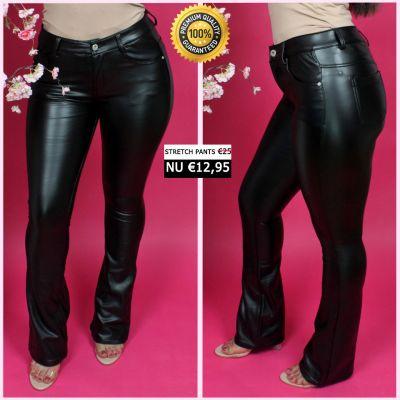 PRE ORDER Leather Look Flared Pants 33004 WORD 25-01 VERZONDEN