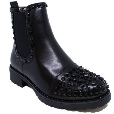 Musthave LBTN Black Studs Boots A23