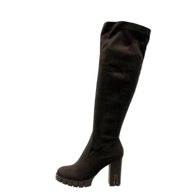 Beautiful Knee High Boot Silver Plated A419