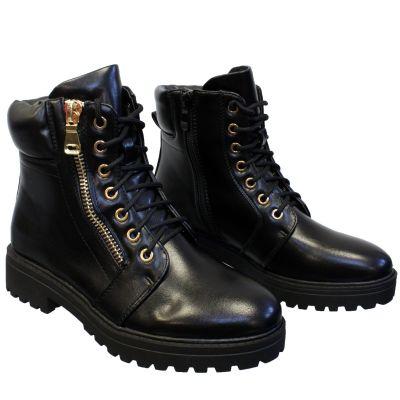 Balmain Inspired Boots Gold Zip Super Soft a626