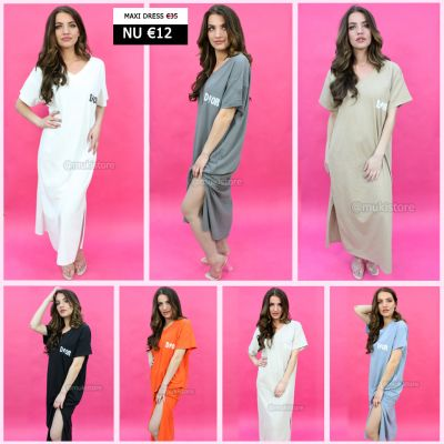 Trending D!or Two Side Split V Neck Maxi Dress