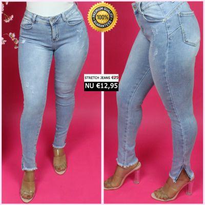 Push Up Premium Quality Stretch Jeans Zips 66061