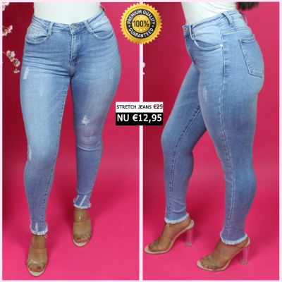 Premium Quality Stretch Jeans Ankle Fray 77525