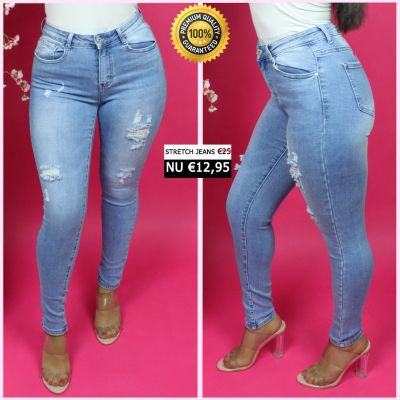 Premium Quality Stretch Jeans Ripped 77522