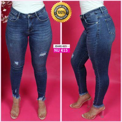 Premium Quality Distressed Stretch Jeans 77387