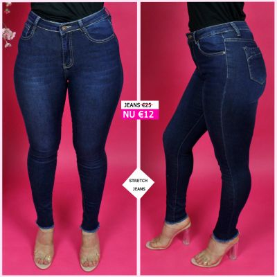 PRE ORDER Stretch Jeans All Clean Ripped Pipes 95006 WORD UITERLIJK 27-10 VERZONDEN