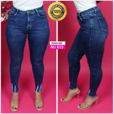 Premium Quality Ankle Fray Stretch Jeans 95036
