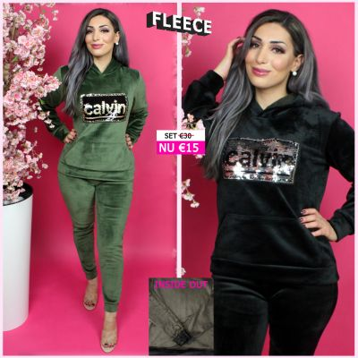 Fleece Joggingset Calvin Sequin 128 BG