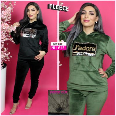 Fleece Joggingset Jadore Sequin ZG 131