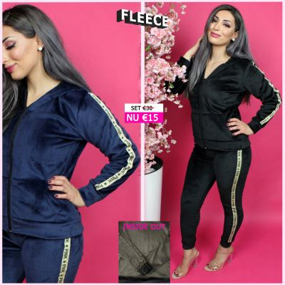 Fleece Joggingset Pink BZ 269