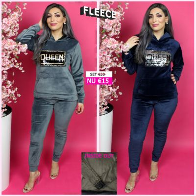 Fleece Joggingset Queen Sequin 290 BG