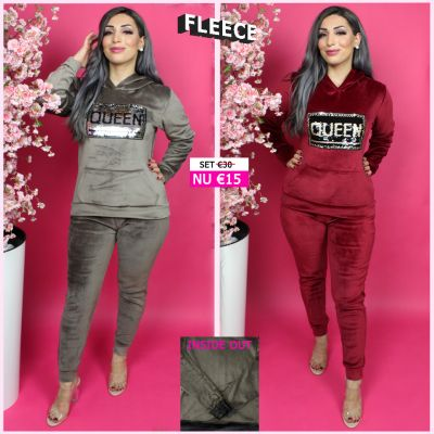 Fleece Joggingset Queen Sequin 290 BR