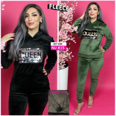 Fleece Joggingset Queen Sequin 290 ZG