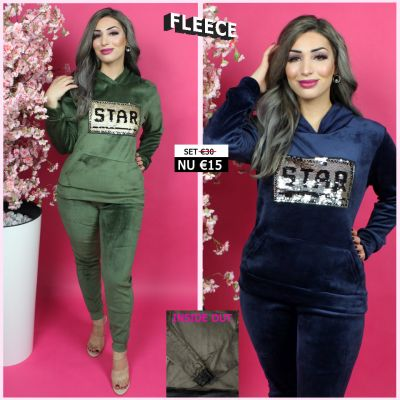 Fleece Joggingset Star Sequin 274 BG