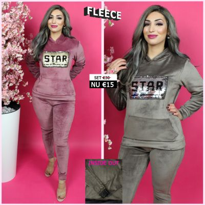 Fleece Joggingset Star Sequin 274