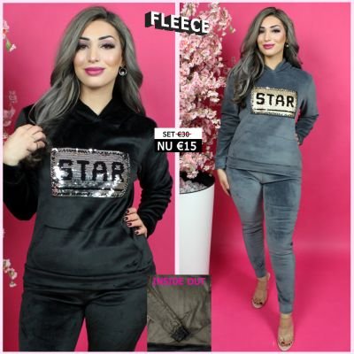 Fleece Joggingset Star Sequin 274 ZG