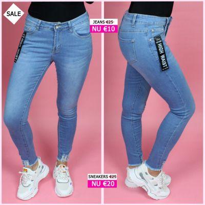 PRE ORDER Ankle Fray High Waist Jeans W5158 WORD 02-06 VERZONDEN