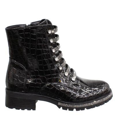 Glitter Laces & Sole Croco Boot -106