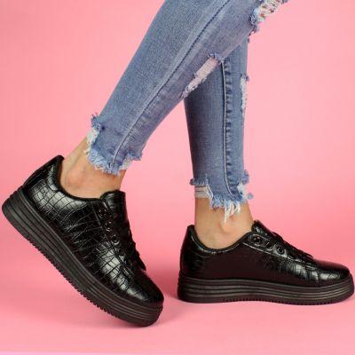Alexander Croco High Sole S16 Black Sneaker