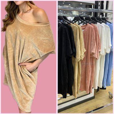 PRE ORDER Velvet Oversized Dress Pockets WORD VERZONDEN OP 25-06