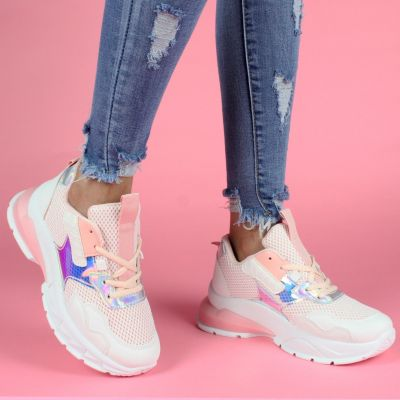 Plated Big Sole Sneaker PINK LL1775