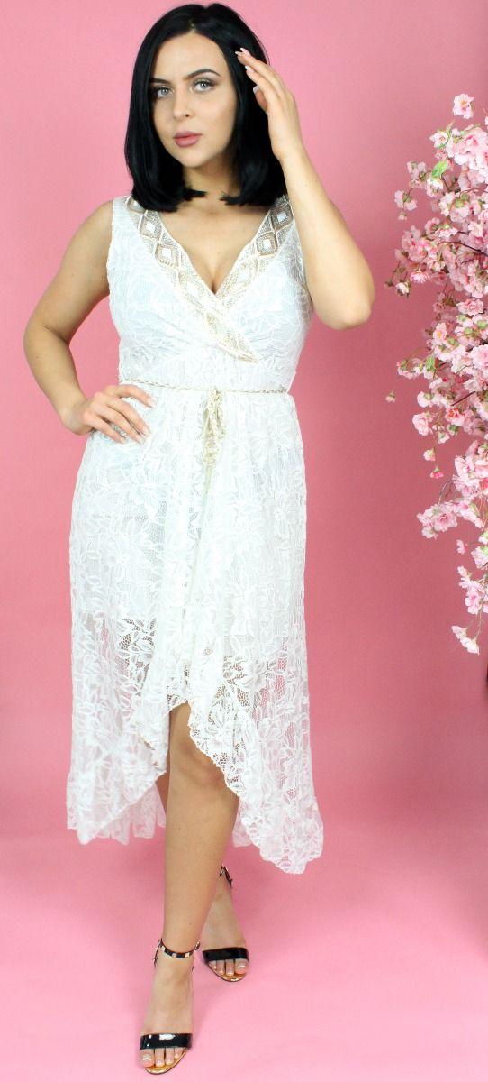 Lace Embellished Midaxi Dress