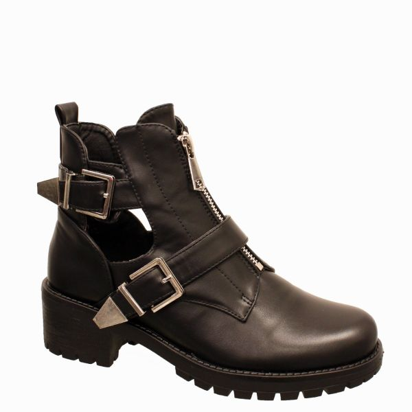 Double Gesp MId Zip Boots A623