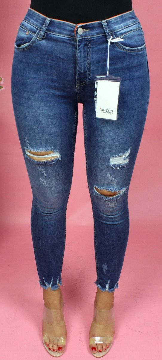 Rip Knee Skinny Jeans 673