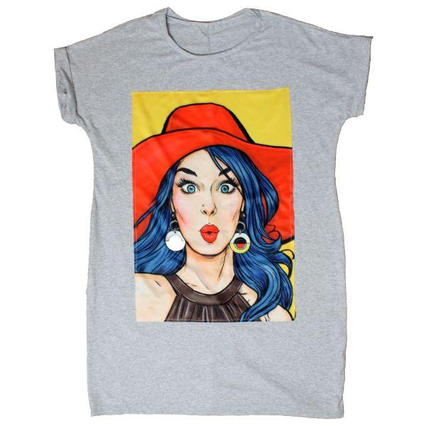 Hat Girl T-shirt Oversized Dress