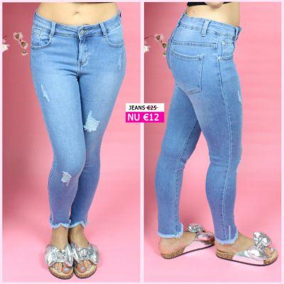 PRE ORDER Ankle Detail Stretch Skinne Jeans MS002 WORD UITERLIJK 08-07 VERZONDEN