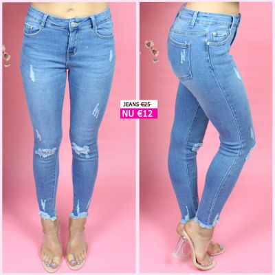 PRE ORDER Rip Knee Stretch Skinny Jeans MS005 WORD UITERLIJK 24-07 VERZONDEN