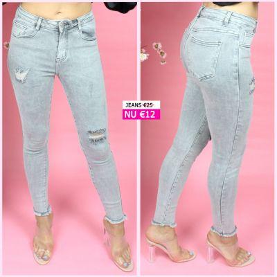 PRE ORDER Grey Skinny Stretch Jeans 77502 WORD UITERLIJK 08-07 VERZONDEN