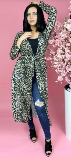 Leopard Belted Kimono