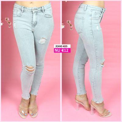 PRE ORDER Grey Distressed Stretch Jeans 77501 WORD UITERLIJK 08-07 VERZONDEN