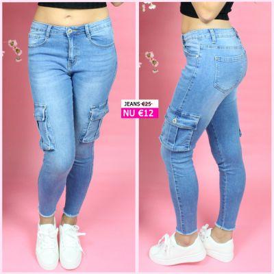 PRE ORDER Side Pocket Detail Stretch Skinny Jeans  77266 WORD UITERLIJK 08-07 VERZONDEN