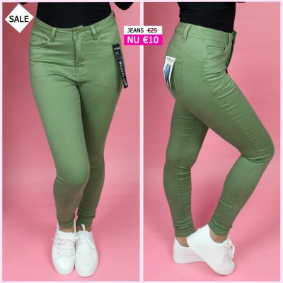 PRE ORDER Musthave Green Push Up Jeans WORD 02-06 VERZONDEN