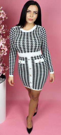 Button Front Bodycon Dress