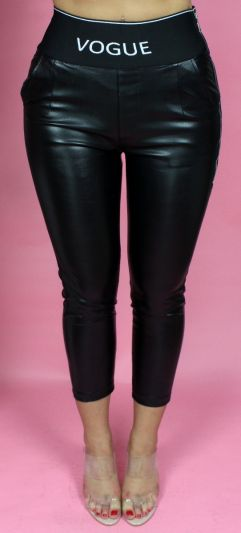 Musthave Size Zip Vogue High Waistband Leather Pants